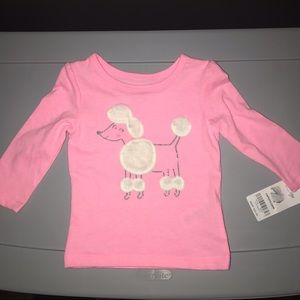 Carter's | Baby Neon Glitter Poodle Jersey Tee